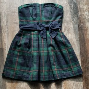 Abercrombie & Fitch Festive Plaid Holiday Dress